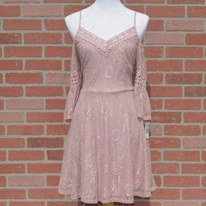 City Triangles Mauve Cold Shoulder Dress Size 11
